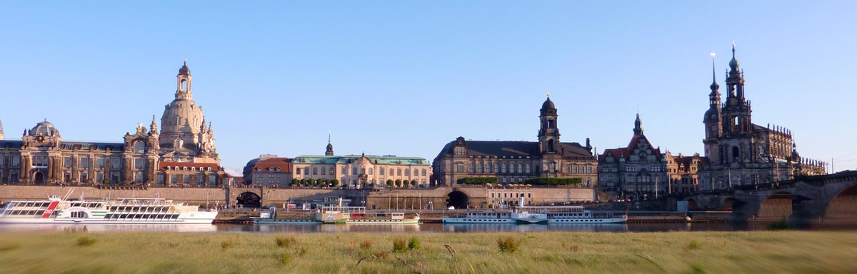 Photography of Dresden's historic city center